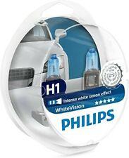2 BOMBILLAS PHILIPS WHITEVISION H1 3700K white vision efecto xenon Nuevo