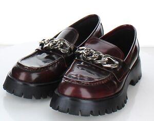 Q17 $165 Women's Sz 8.5 M Jeffrey Campbell Recess Chain Platform Loafer