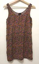 Divided H&M, Women Sleeveless Multi Color Floral Dress, Missing Belt, Size 4