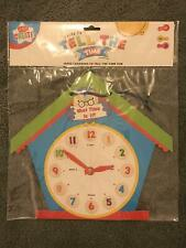 Kids Create Child's Learn To Tell The Time Children's Learning Clock Toy Teach