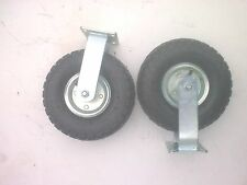 "2 x 10"" Pneumatic FIXED Castor Wheels"