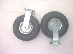 "2 x 10"" Pneumatic FIXED Castor Wheels"