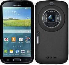 Amzer Pudding Matte TPU Case Back Cover For Samsung Galaxy K Zoom SM-C115 -Black