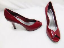 ANNE KLEIN Women's High Heel Pumps Classics 9 M Candy Apple Red Patent Leather