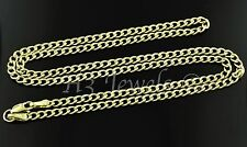 14k solid yellow gold hollow curb chain necklace lobster 3.30 grams #3128 22inch