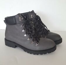 Women's Union Bay Team Robin Grey Lace Up Boots, Size 10 M