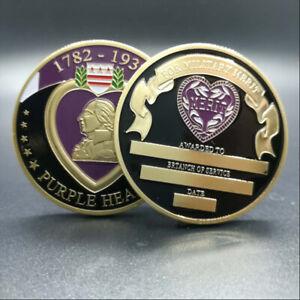 Purple Heart for Military Merit Enamel Challenge Coin Münze Medaille