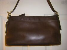COACH LEGACY WEST CHOCOLATE BROWN GLOVE LEATHER TOP ZIP SHOULDER BAG