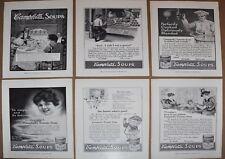 1914 CAMPBELL'S SOUP advertisement x6, Campbell Kids, fancy dinner Tomato Soup