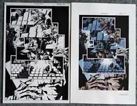 Batman Deathblow original art Lee Bermejo Planche Comics Originale