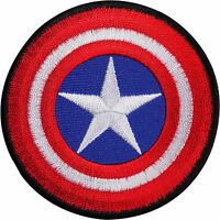 Captain America Shield Embroidered Iron / Sew On Patch T Shirt Bag Comic Badge