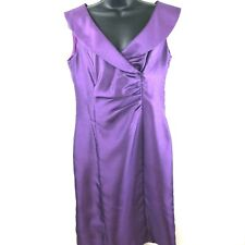 Jones New York Purple Dress Sleeveless Cocktail Party Gathered Classic size 6