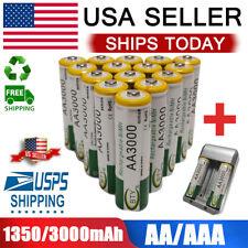 AA/AAA Battery Rechargeable 3000/1350mAh For LED Flashlight 4-100pcs 1.2V Lot