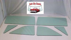 Glass 1963 1964 Galaxie 500 Monterey Convertible Vent Door Quarter Green Set