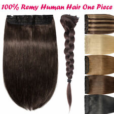"8""-24"" Thick One Piece Clip In Remy Real Human Hair Extensions 3/4 Full Head ZY4"