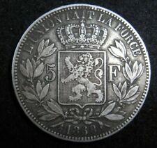 ANCIENNE BELLE PIÈCE 1868  5 FRANCS F FR FRANC ARGENT BELGE BELGIQUE LEOPOLD II