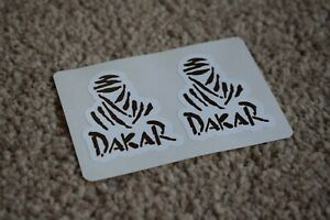 Dakar Racing Motorcycle Bike Car Emblem Badge Race Rally Decals Stickers 50mm