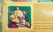 "New listing Caron Disney Winnie The Pooh And Piglet Latch Hook Kit 13""x13"" New Sealed Wp0002"