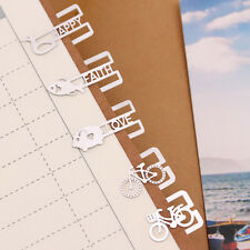 20pcs Creative Mini Metal Bookmarks Office School Book Note Clip With Case Box