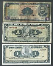 NICARAGUA ✨ 1959 1968 & 1995 ✨ 1 CORDOBA X 3 PCS ✨ COLLECTIONS & LOTS
