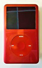 1TB SD IPOD CLASSIC RED ROCKBOX FIRMWARE 6TH GEN! LG SUPERBATTERY! LOT OF BONUS!