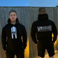 Warrior Gym Wear (Jet Black) - Gym Hoodie Sweatshirt Men Women MMA BJJ Boxing