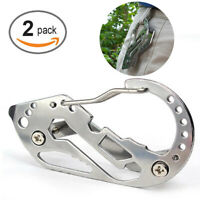2PC Quickdraw Carabiner Clip EDC KEYCHAIN Outdoor Belt Key Holder Organizer Tool