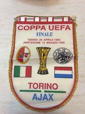 Rarissimo gagliardetto finale Torino Ajax 1992 vintage da collezione