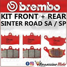 BRAKE PADS KIT BREMBO SINTER FRONT + REAR SUZUKI SV 1000 2004 2005 2006