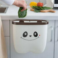 Hanging Trash Can Compact Garbage Waste Bin Folded for Kitchen Cabinet Door Car