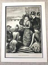 1882 University Boat Race Rowing Oxford Cambridge Original Antique Print