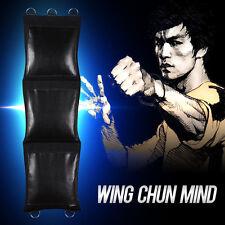 New Wing Chun Mind Black heavy Canvas Punching Wall Bag Bruce Lee Style Cun Quan