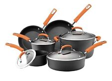 Rachael Ray Hard Anodized II Nonstick Dishwasher Safe 10-Piece Cookware Set,