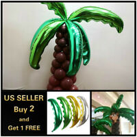 Magical Palm Tree Leaves Birthday Party Tableware Decor Balloons Supplies Gifts