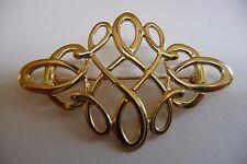 Escocés Ola Gorie 9 Ct Oro Amarillo Tudor Broche Celta