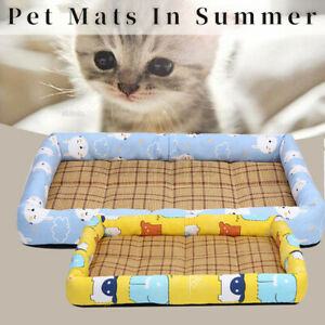 Washable Cotton Large Cat Dog Cooling Mat Hot Waterproof Pet Bed Puppy Pee
