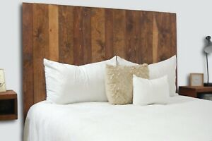 Honey Headboard Stain, Hanger Style, Handcrafted. Mounts on Wall.