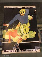 10/6 1933 BUCKNELL VS. DUQUESNE FOOTBALL PROGRAM  VG/EX NICE