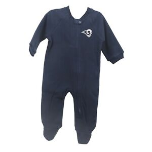 Los Angeles Rams Official NFL Apparel Baby Infant Size Pajama Sleeper Bodysuit