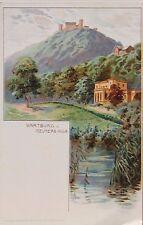 29071 Litho AK Wartburg bei Eisenach und Villa von Reuter um 1895