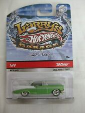 Hot Wheels 2009 Larry's Garage 1/6 '57 Chevy Red Line Mint In Card