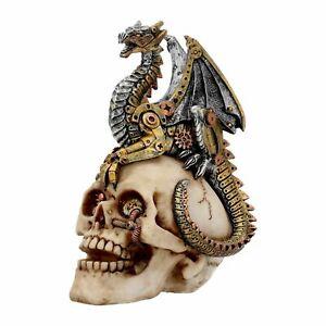 Nemesis Now Dragons Grasp Steampunk Dragon Skull Statue Figurine 18.5cm  U3748K8