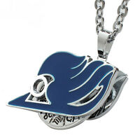 Fashion Anime Fairy Tail Necklace Blue Metal Rotatable Pendant Jewelry Cosplay