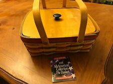 Longaberger 1998 All American Pie Basket With Protecter And Lid, See Description