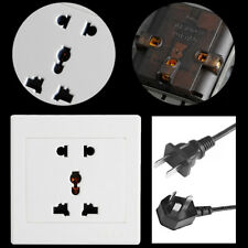 Universial 5 Hole Electric AC Power Outlet Panel Plate Wall Charger Dock Socket