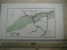 DUNDEE BROUGHTY FERRY LEUCHERS KILMANY FIRTH OF TAY PORT LIFF RAILWAY MAP 1928