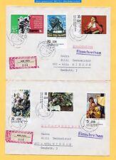 DDR 1974-Mi.Nr. 2001-05°+1981° auf gelaufenen R-Briefen