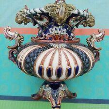 Cache-pot ancien jardinière Lions barbotin WS & S Allemagne Antique planter vase