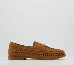 Mens Office Camberwell Lace Up Woven Derby Tan Suede Casual Shoes