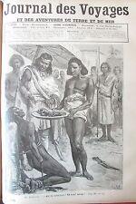 JOURNAL DES VOYAGES N° 670 de 1890 AFRIQUE ETHIOPIE TORTURE EXECUTION  VOLEUR